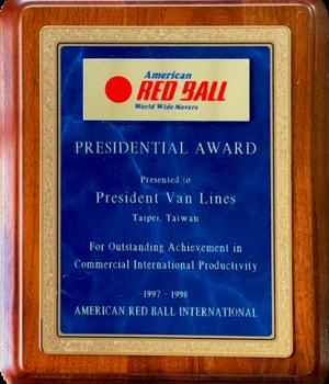 AMERICAN RED BALL INT'L 1997-98 AWARD